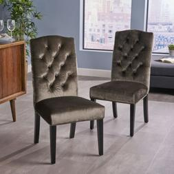 Joyce Traditional Crown Top New Velvet Dining Chairs