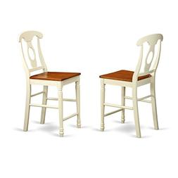 KES-WHI-W Kenley Counter Height Stools With Wood Seat In But