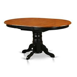 East West Furniture KET-BLK-TP Oval Dining Table with 18-Inc