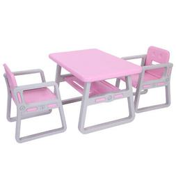 Kids Plastic Table and Chairs Set For Toddlers Lego, Reading