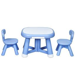 Kids Table and 2 Chair Set w/ Storage Bins for Children Draw