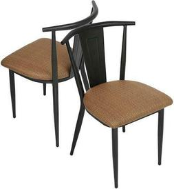 Luckyermore Kitchen Dining Chair Metal Set of 2 Industrial U