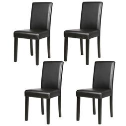 Mecor Kitchen Leather Dining Chairs with Solid Wood Legs Ele