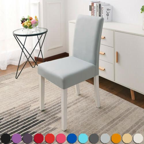 Solid Color Stretch Home Chair Seat Covers