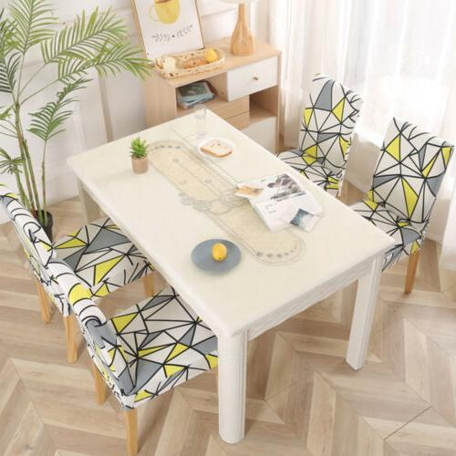 1/4/6pcs Spandex Dining Chair Covers Home