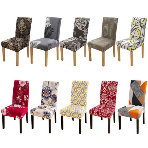 1/4/6pcs Stretch Printed Dining Chair Covers Slipcovers Home Dining Room