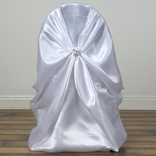 BalsaCircle 10 pcs White Universal Chair Slipcovers for Wedding Ceremony Reception