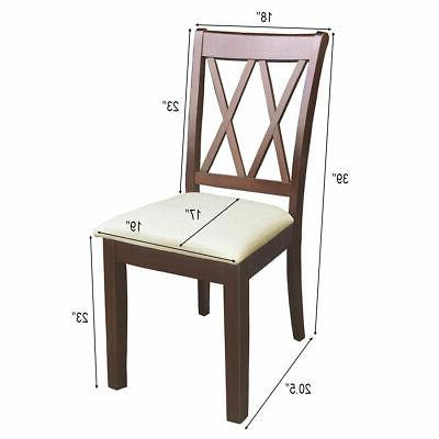 2-Set Dining Chairs Upholstered Kitchen Restaurant