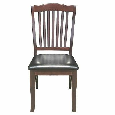 2-Set PU Leather Chair Armless Kitchen