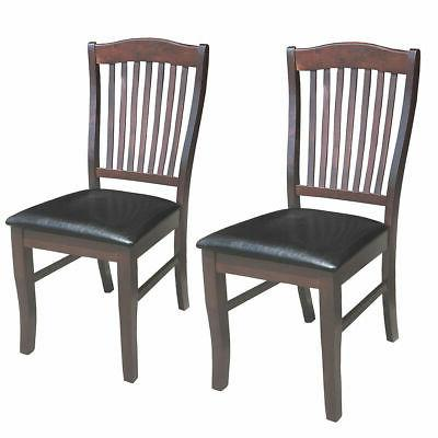 2 set pu leather dining chair armless
