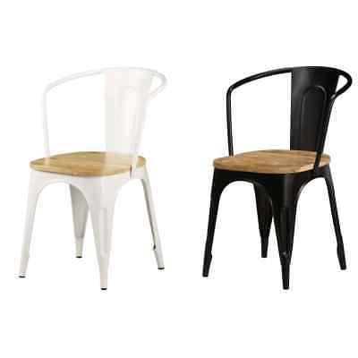 2x solid mango wood dining chairs kitchen