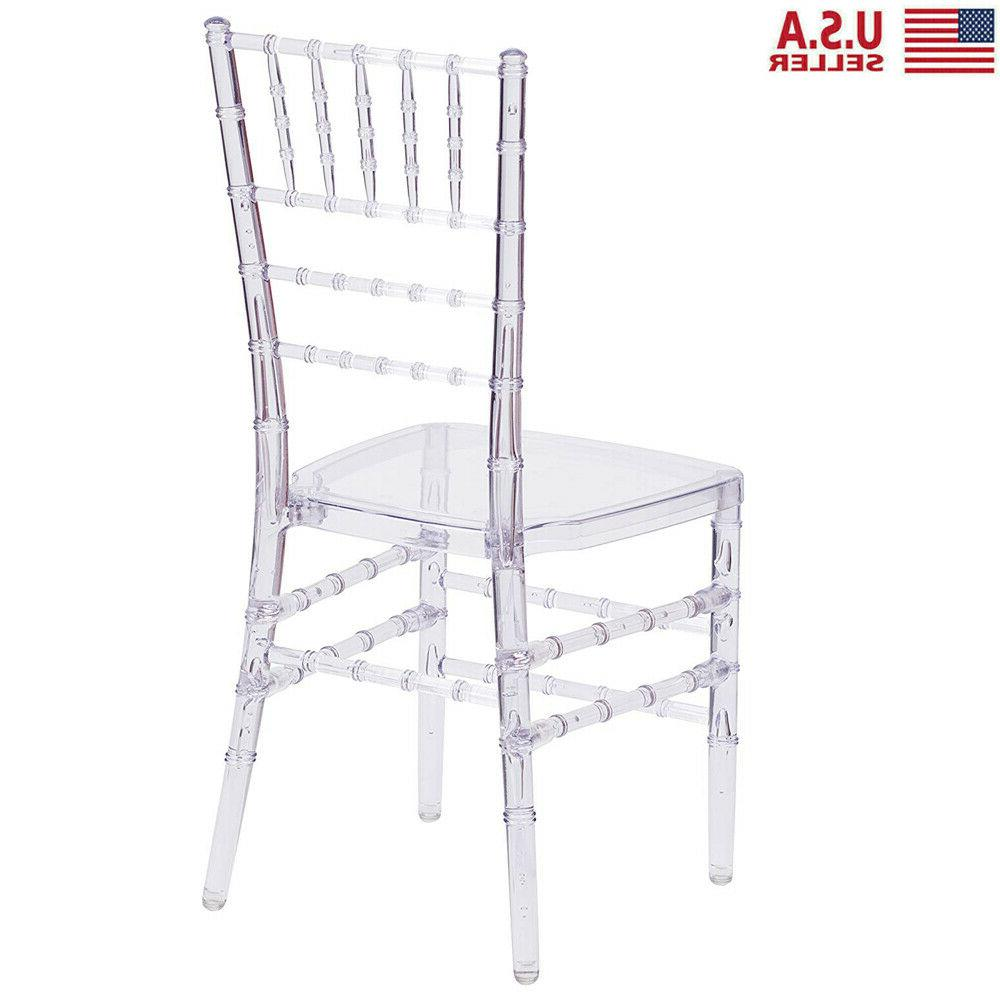 4 Crystal Stacking Chair Clear Side Dining Chair