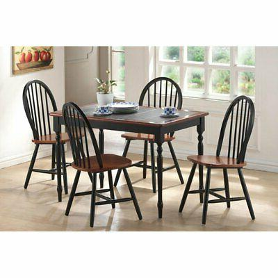 5 piece tile top dining table set
