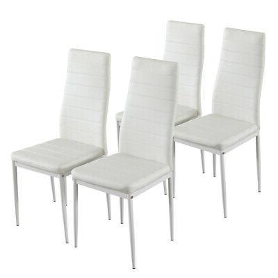 5pcs Faux PU Leather Dining Chair Set 4 Chairs Kitchen Furniture