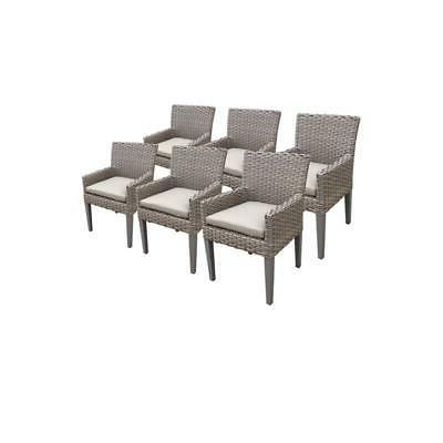 6 Monterey Dining Chairs With Arms in Beige