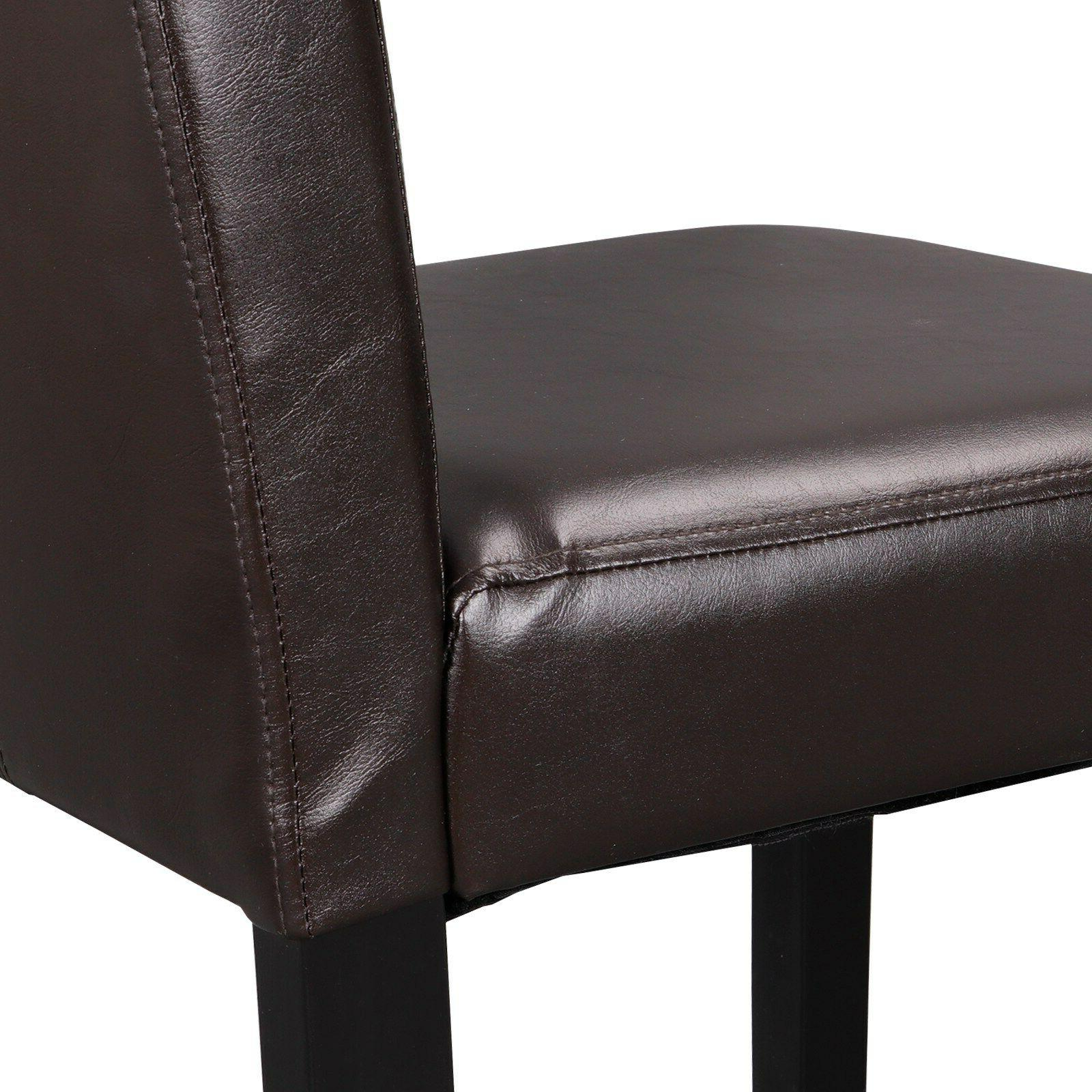 8 Dining Room Chairs Elegant Leather Design