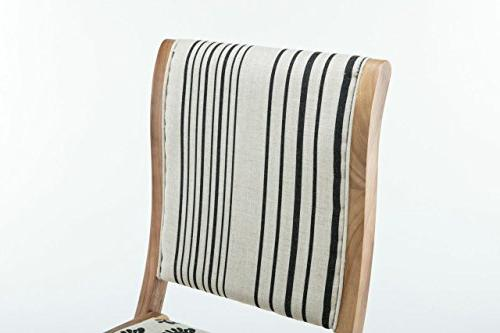 Dining Chair, black, & Natural, Pattern 2