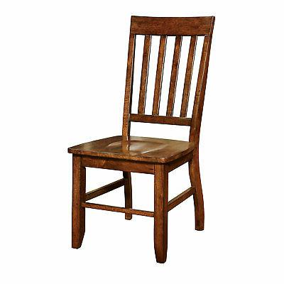 Furniture of America Castile Transitional Dining Chair, Dark