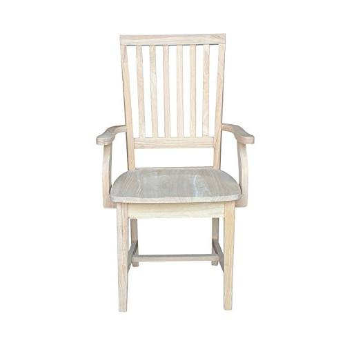 International Concepts Mission Side Chair with Arms, Unfinished