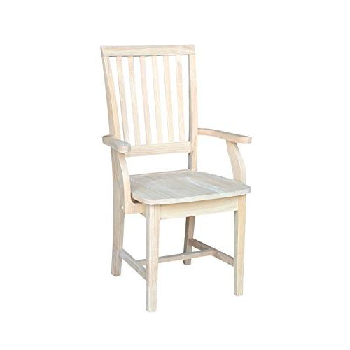 International Concepts 265A Mission Side Chair with Arms, Un