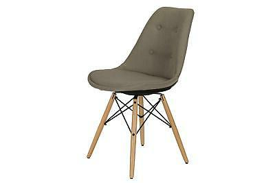 albany dining chair mid century modern button