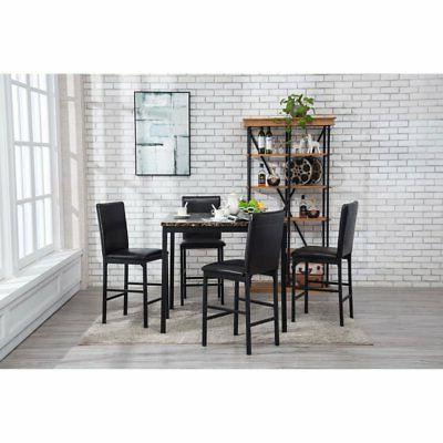 arjen 5 piece counter height dining table