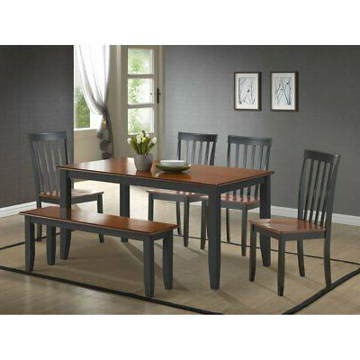 bloomington 6 piece dining table set