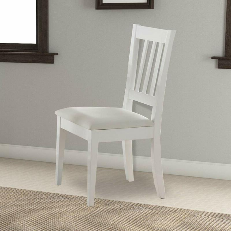 Benjara BM179668 Chair with Slatted Set Two,