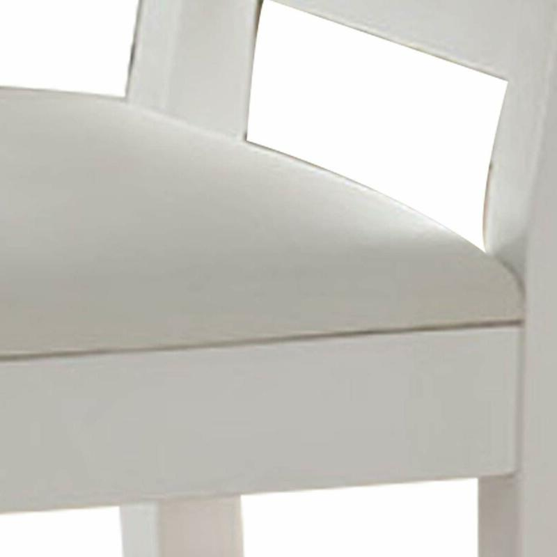 Benjara BM179668 Wooden Chair with Set of Two, White,