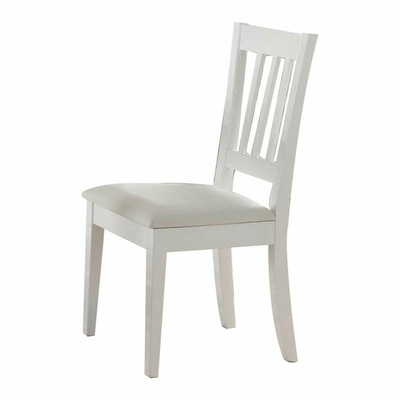 bm179668 wooden dining chair with slatted back
