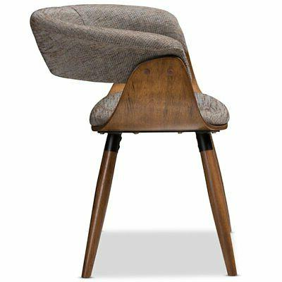Baxton Dining Side Chair in Gray