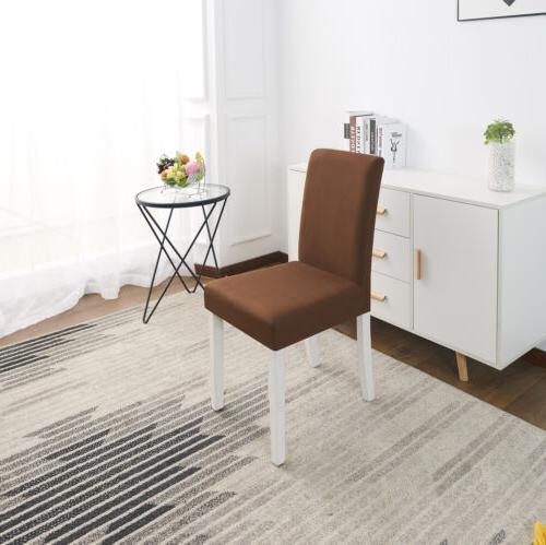 Solid Stretch Home Dining Room Chair Slipcovers