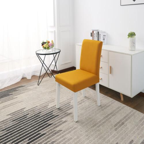 Solid Spandex Fabric Stretch Home Room Chair Seat