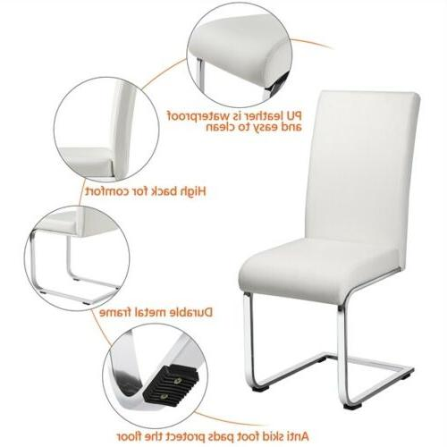 Dining Chair PU Padded Home Office 2PCS