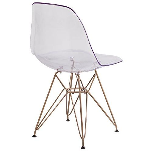 Flash Furniture Elon Series Ghost with Gold Metal
