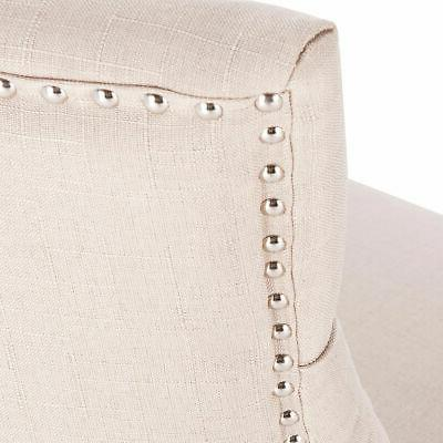Fabric Dining Tufted Leisure Padded Upholestered Nailed Trim