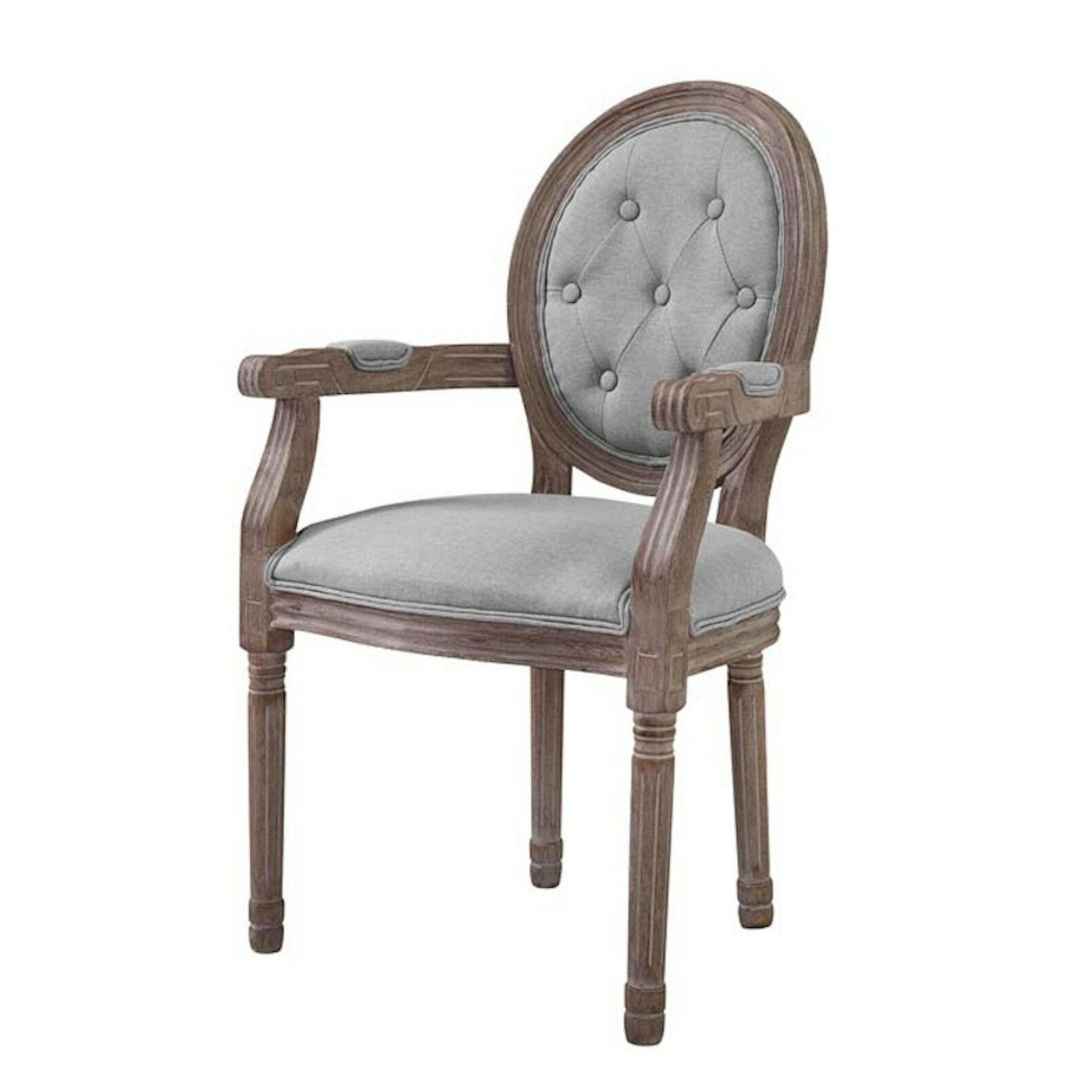 French Dining Chair Louis XVI Style Gray Beige