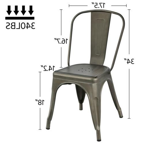 Iron Dining Stackable Side Chairs with of