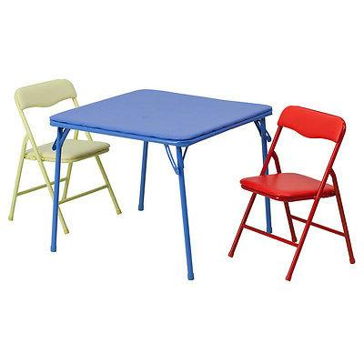 kids colorful 3 pieces folding table