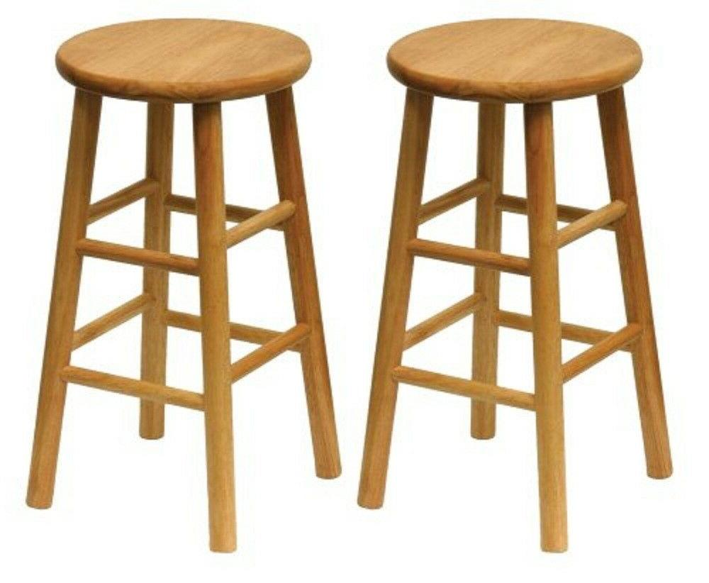 Kitchen Counter Height Stools Wood 24 Inch Set Of 2 Dining R