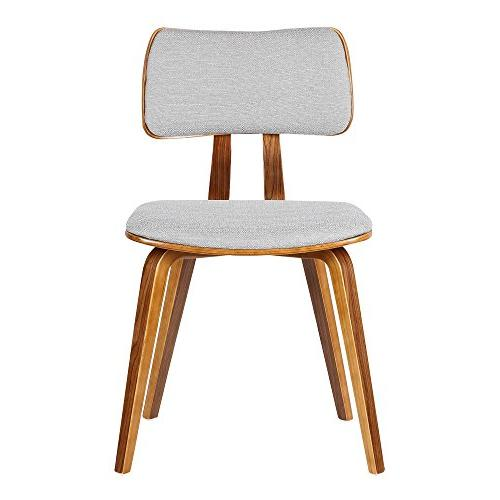 Dining Chair Fabric and Walnut Wood Finish