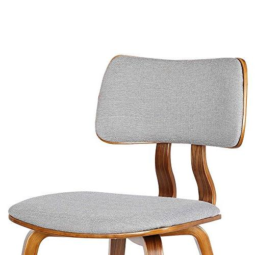 Armen LCJASIWAGRAY Dining Chair in Grey Fabric and Wood Finish