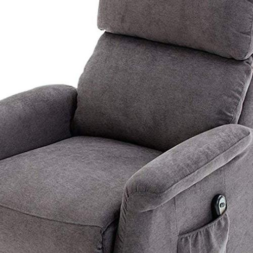 BONZY Lift Recliner Classic Power Lift Chair Soft and Remote Control for Gentle Motor - Gray