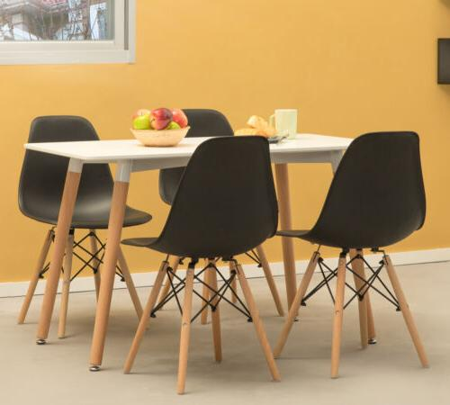 Mid-Century Modern Style DSW Dining with Beech