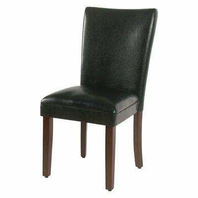 parsons leather dining chair set of 2