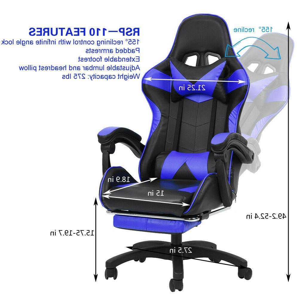 Racing Computer PU Leather Gaming Chair High