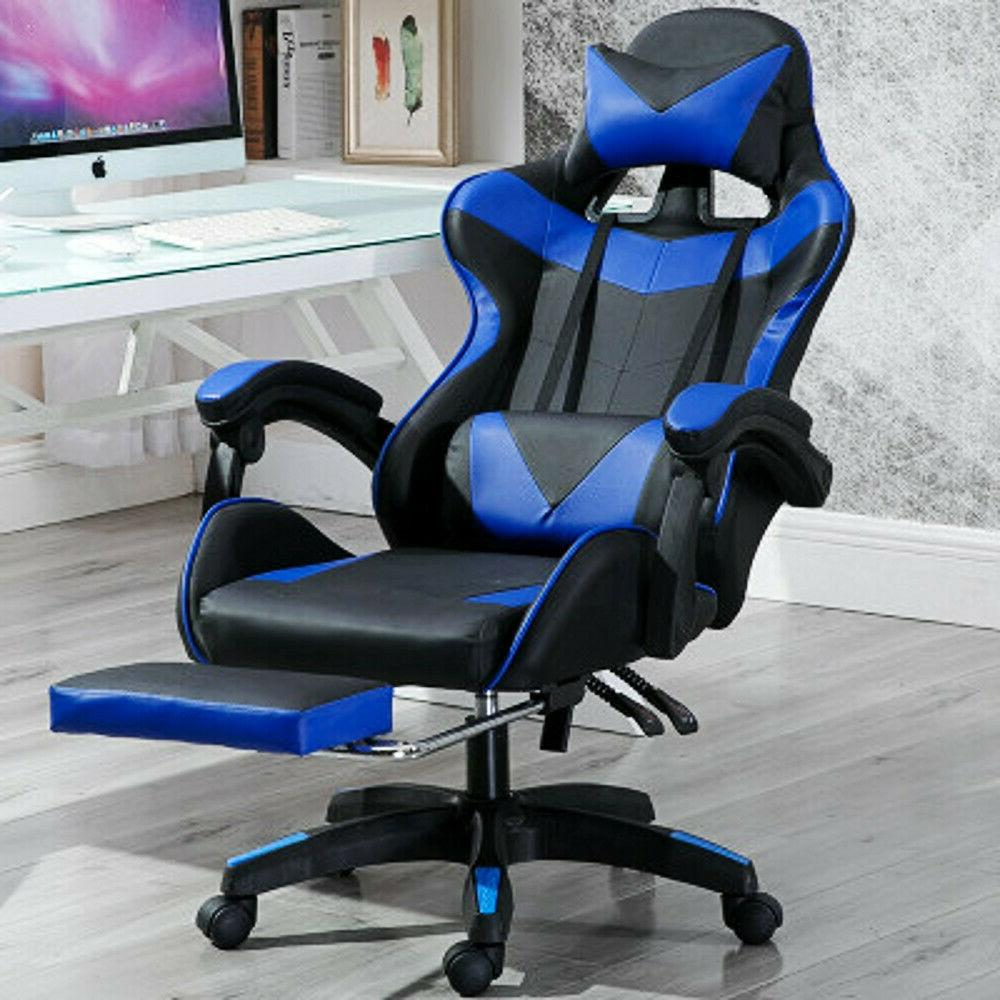 racing style office computer pu leather swivel