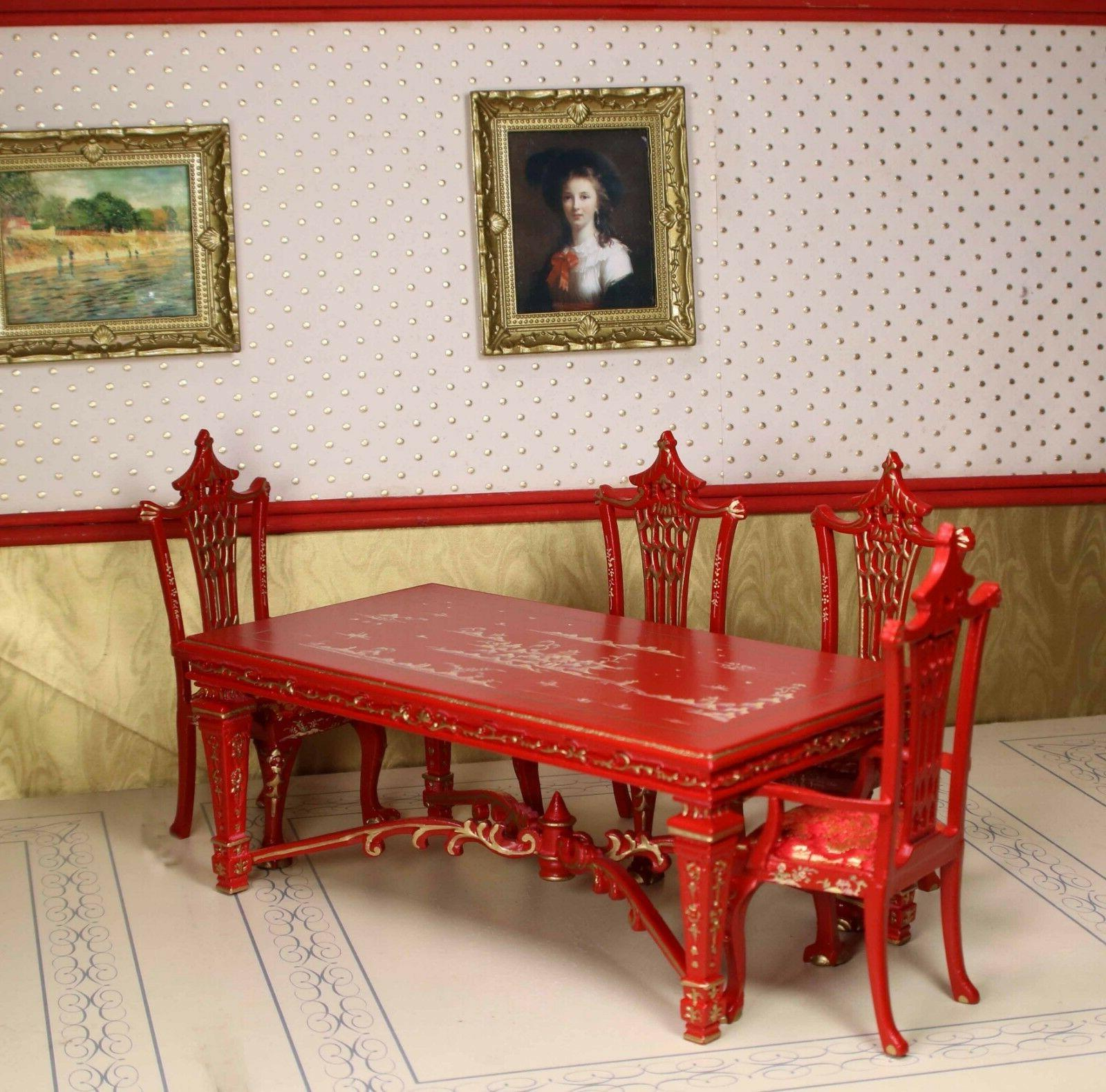 Red Dining Chair MUSEUM 1/12 BESPAQ