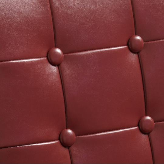 Red Leather Chairs Christopher 2 Kitchen