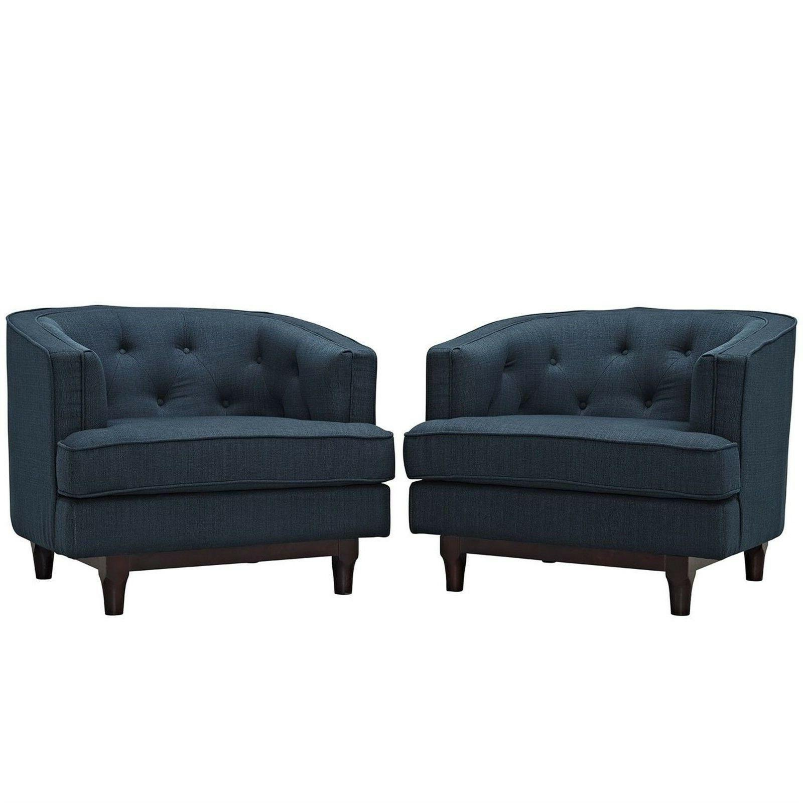 set of 2 coast modern upholstered armchairs